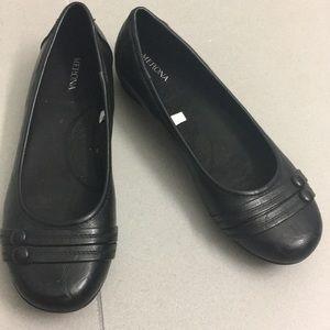 size 8 merona black flats
